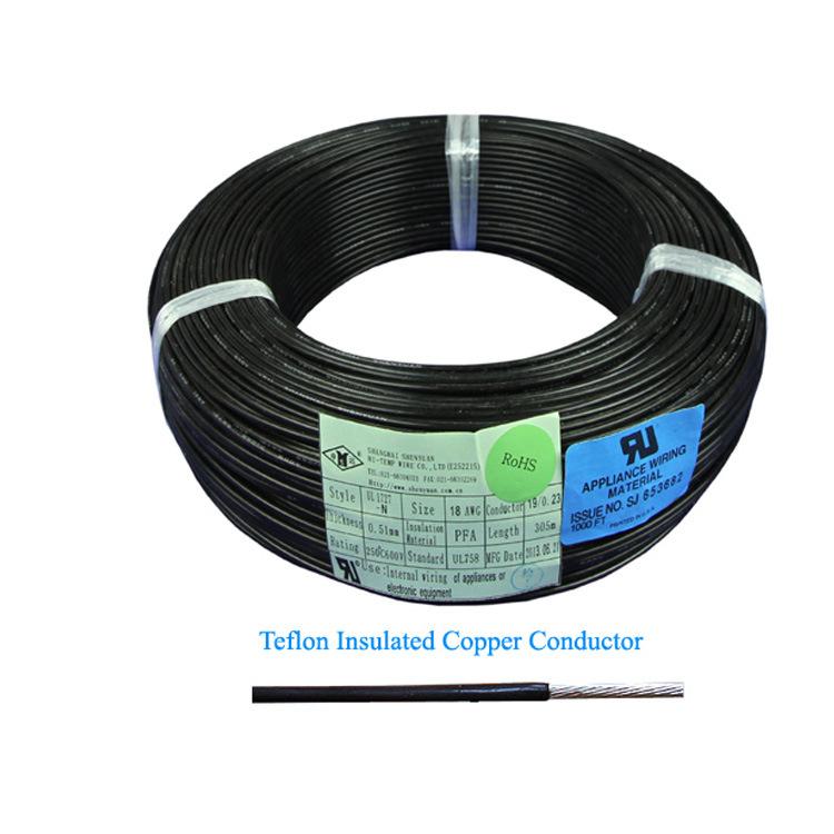 China 250 Degree 600V 1.5mm Teflon PFA Insulated High Temperature ...