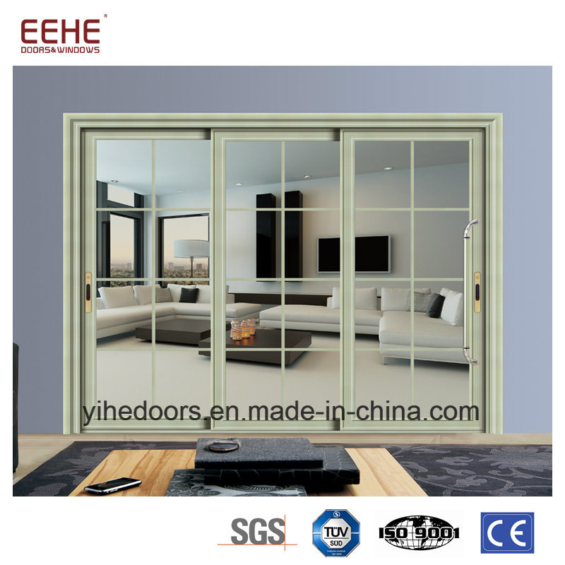 China Dual Pane Glass Barn Door Glass Pocket Doors Aluminum Alloy