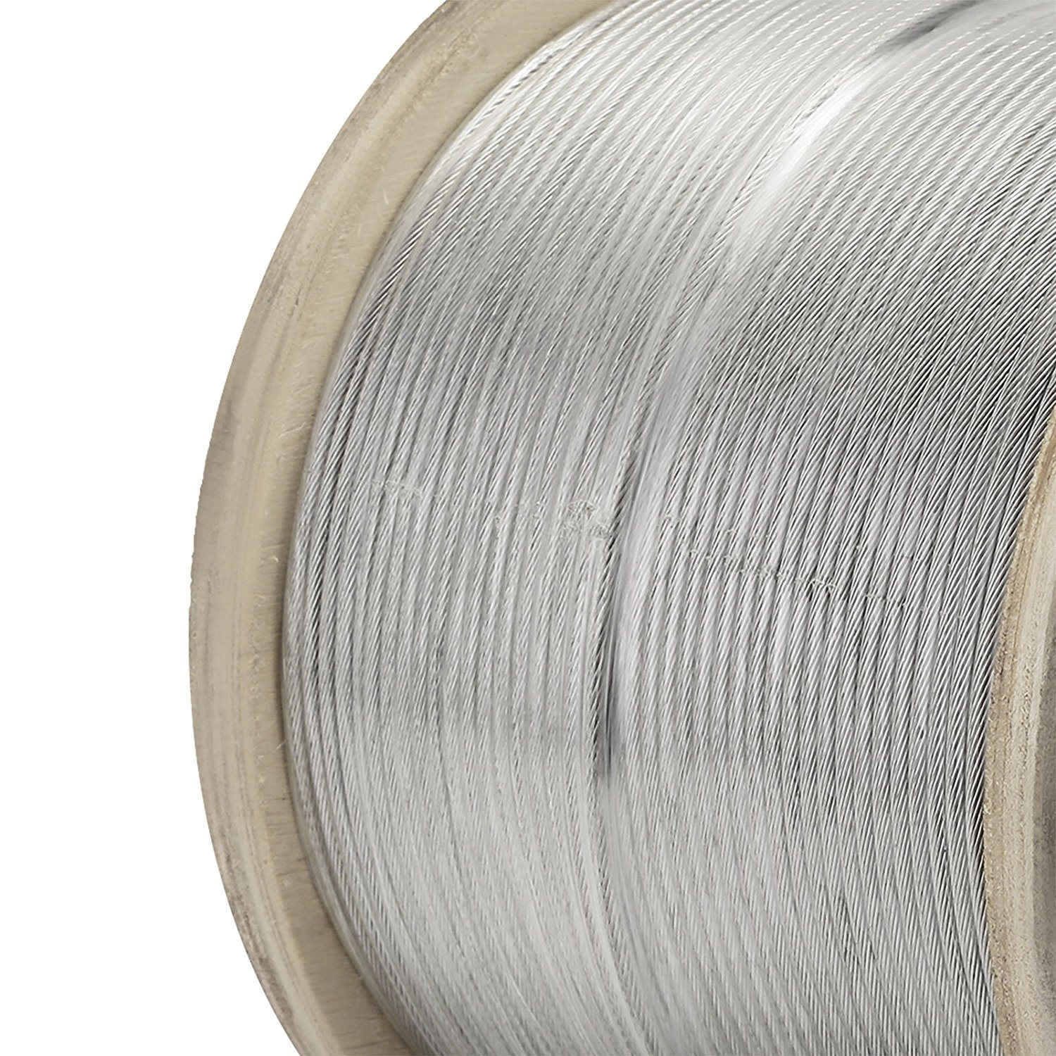 China SS304 6mm Clear PVC Coated 7X7 Stainless Steel Wire Rope ...