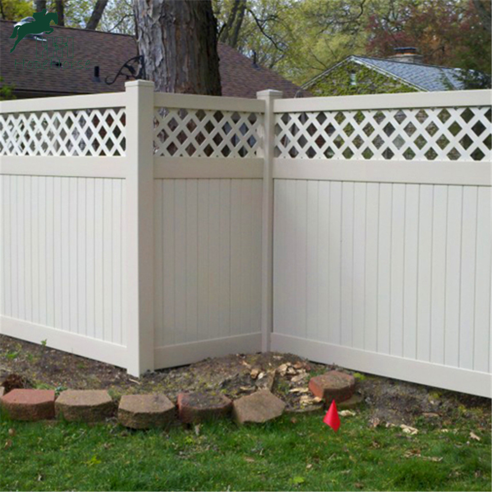 Vinyl Privacy Garden Fence With Top Lattice