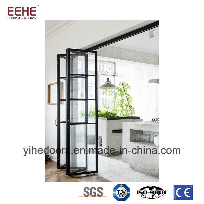 China Patio Aluminum Front Door Folding Door Glass Door Price Photos