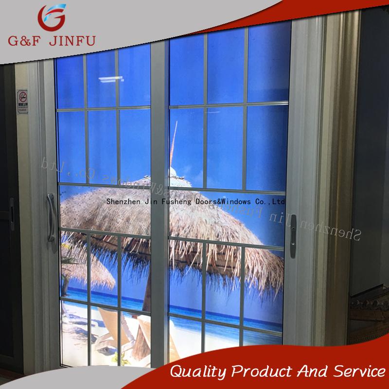China Metal Profile Double Glass Interior Exterior Aluminium Sliding