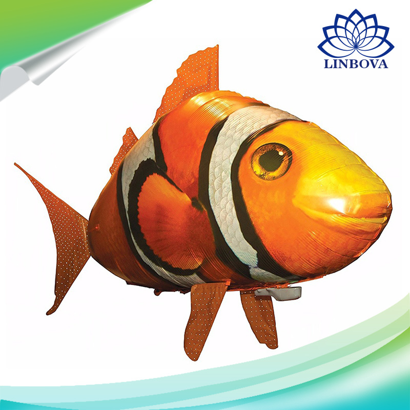 China Air Swimming Remote Control Flying Shark Clown Fish Toys for ...