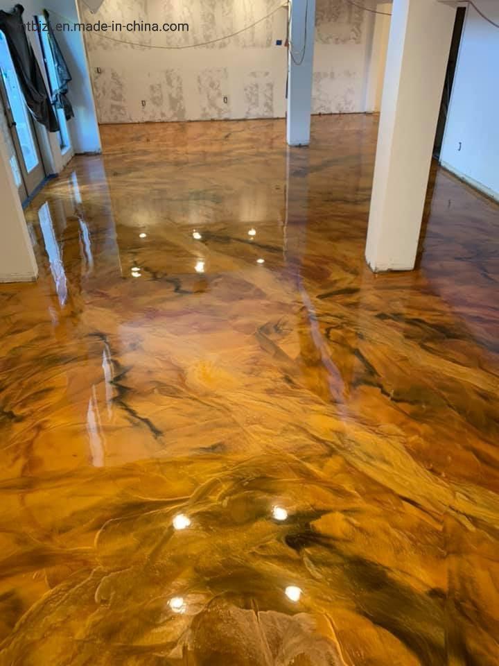 Creative Metallic Epoxy Resin Flooring