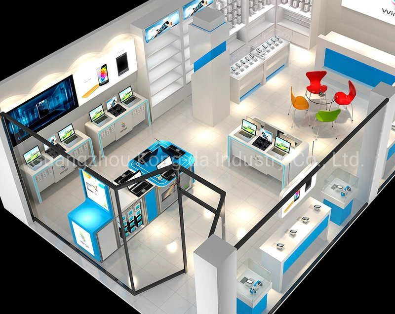 China Fashion Computer Shop Design Mobile Phone Retail Store Display Showcase China Display Showcase And Mobile Phone Display Price