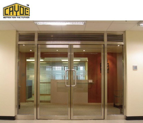 China High Quality Main Entrance Front Metal And Tempered Glasses