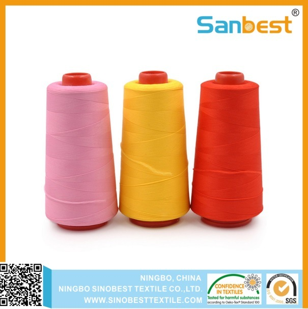 Poly/Poly Corespun Sewing Thread with Excellent Abrasion Resistance pictures & photos