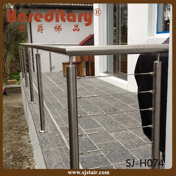 Balcony Railing for Outdoor Steps Stainless Steel Cable Wire Railings (SJ-H073) pictures & photos
