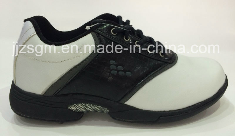 White/Black Fashion Lace-up Golf Shoes