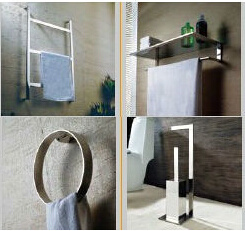 Luxury Contemporary Style Stainless Steel Chrome Finish Bathroom Accessories