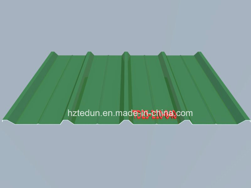 Metal Prepainted Trapezoid Panel for Facades and Wall Cladding (sky blue5015)