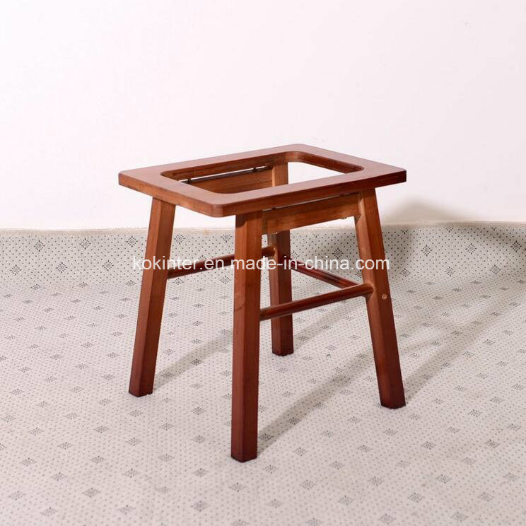 Bamboo Solid Toilet Stool for Elder&Disabled People pictures & photos