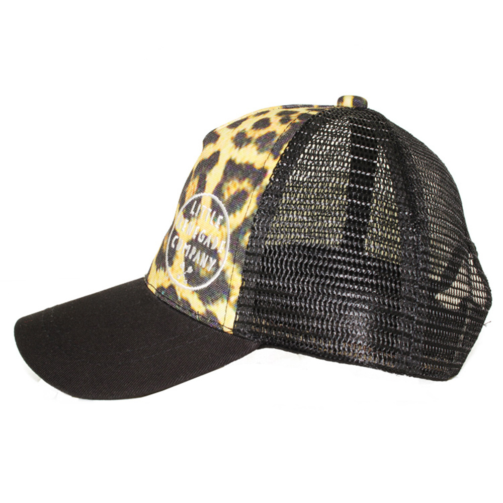 c09d76b9dc04d China Custom Leopard Print Embroidery 5 Panel Foam Trucker Cap ...