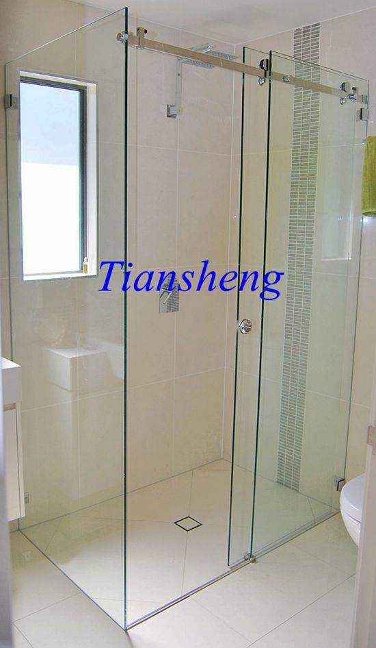 China Tempered Glass Sliding Door Interior Frosted Glass Bathroom