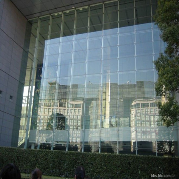 China Large Frameless Tempered Glass For Curtain Wall