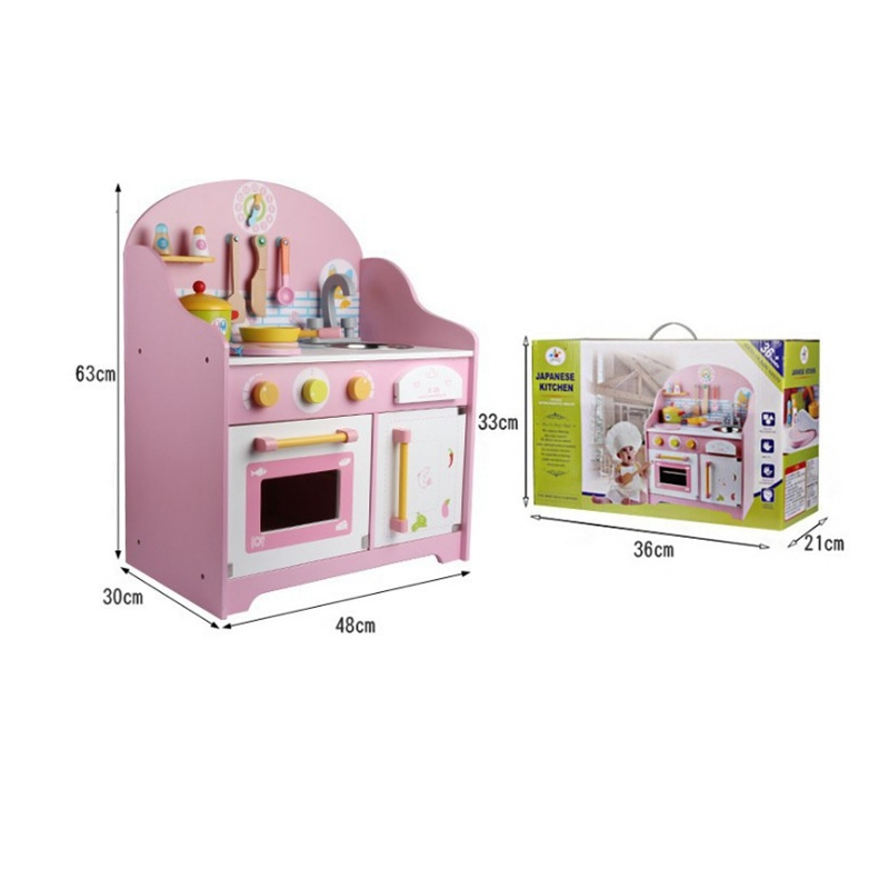 Japanese Wooden Preschool Pretend Play Kitchen Cooking Table Set Children  Educational Toys