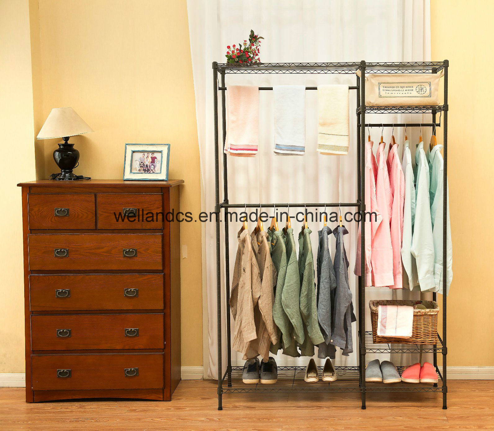 product portable fabric choice products shelf storage home rakuten closet system organizer best bestchoiceproducts shop wardrobe beige