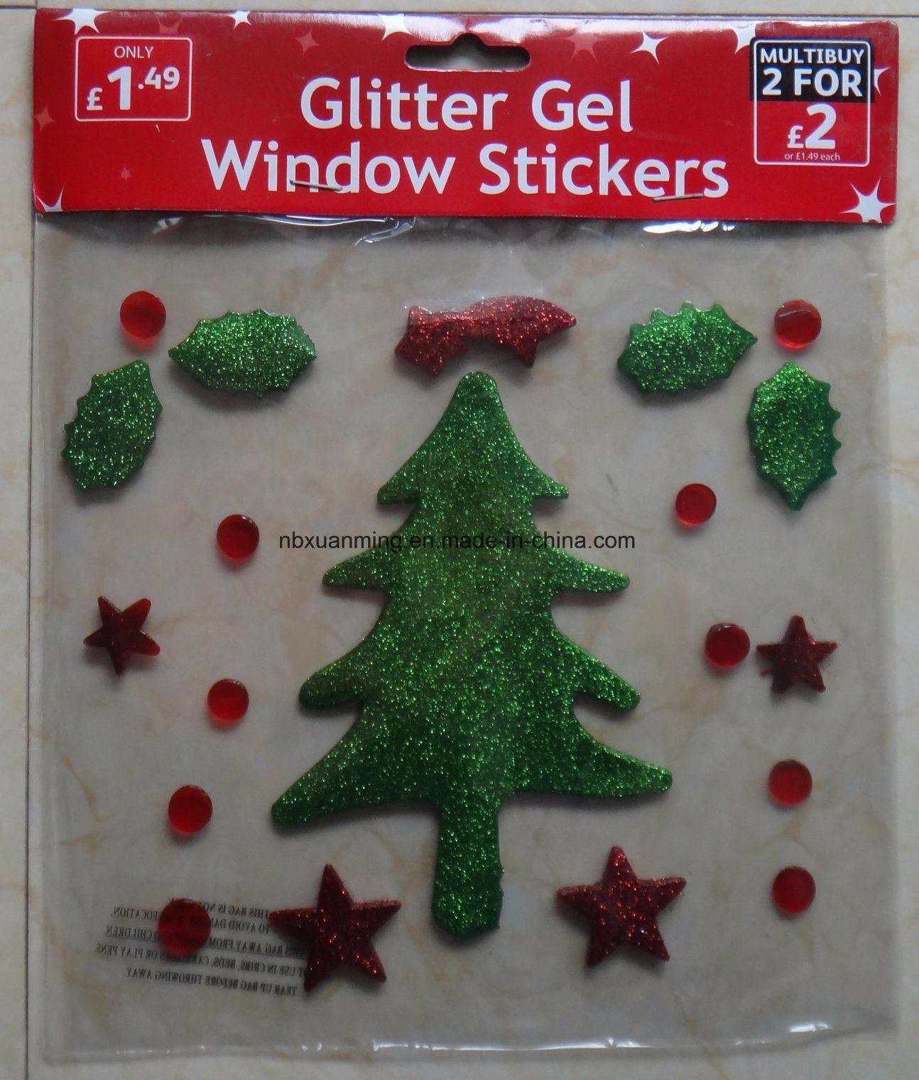 Christmas glitter window jelly xm c 1062 christmas tree