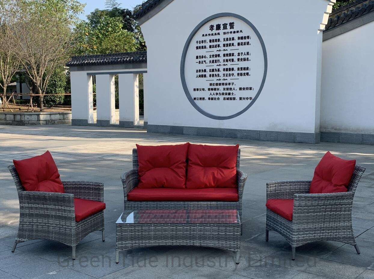 [Hot Item] New Hot Sale Outdoor Patio Garden Wicker Rattan Furniture Sofa  Set 8PCS