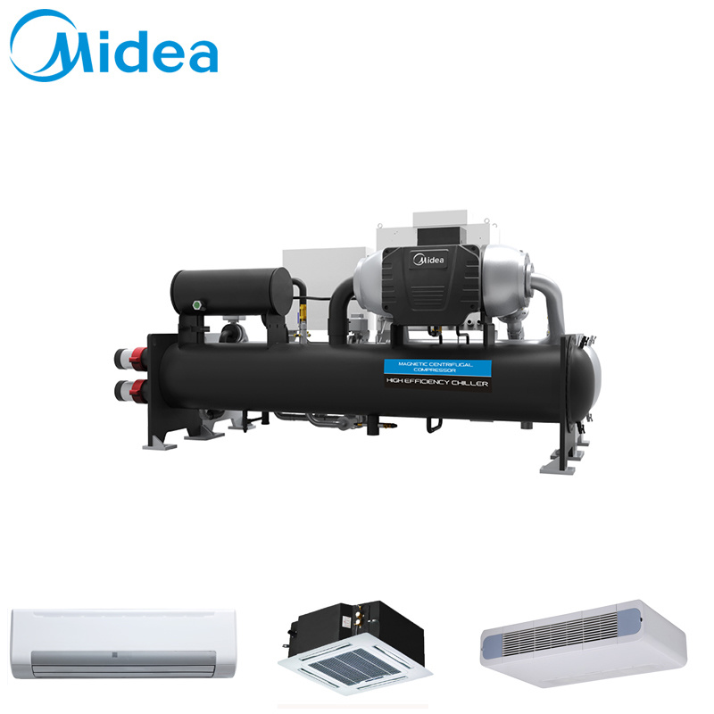 Midea Magboost Oil-Free and High Efficiency 800rt Ccwg800EV 2813kw Magnetic Bearing Centrifugal Chiller Air Cooled Water Cooling Water Chiller Machine