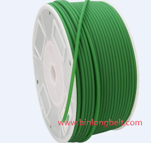 3 MM Green Polyurethane Round drive belting New.