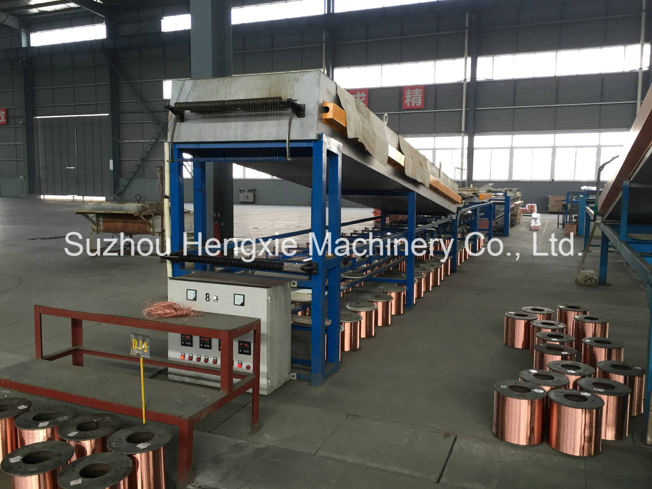 China Hxe-40h Copper Wire Annealing Machine with Four Heads Spooler ...