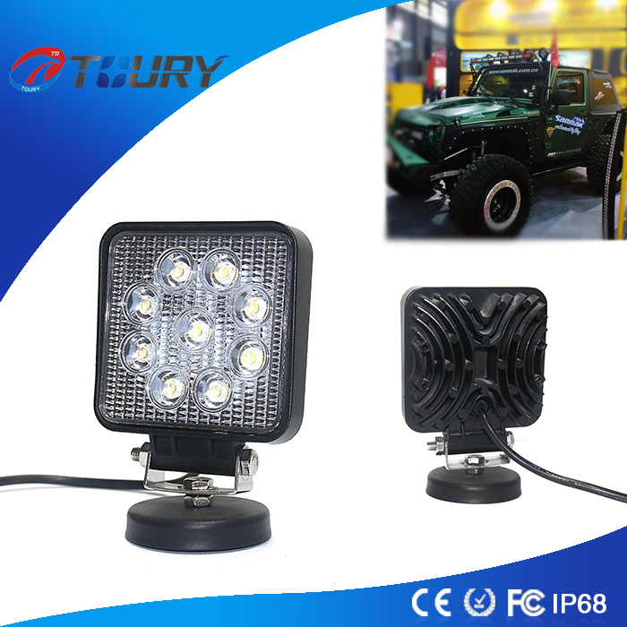 Square 27W Front LED Work Light for Trucks Jeep SUV pictures & photos