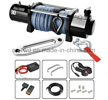 4X4 Accessories 9500lbs Heavy Duty Electric Winch with Dyneema Rope