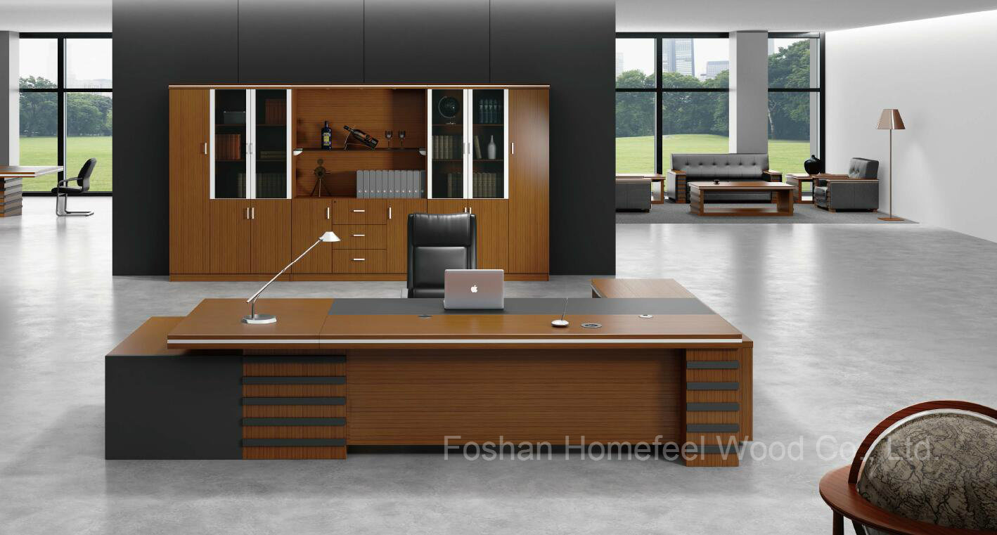 China Modern Teak Wood Executive Desk Office Furniture Hf 38d16
