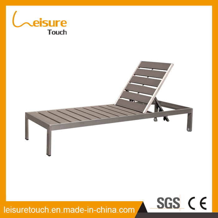 China New Style Gray High Degree Light Fastness Plastic Wood Beach Swimming Pool Deck Chair