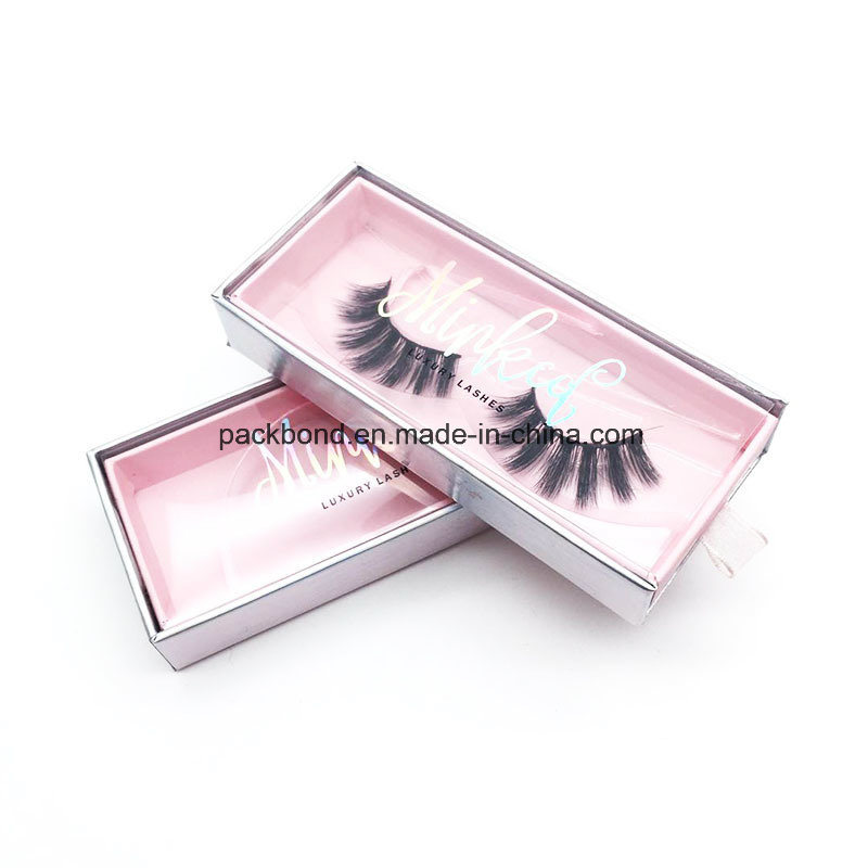 17b3599f888 China Custom Premium Pink Magnet Eyelash Packaging - China Customized Logo  Box, Magnetic Lash Box