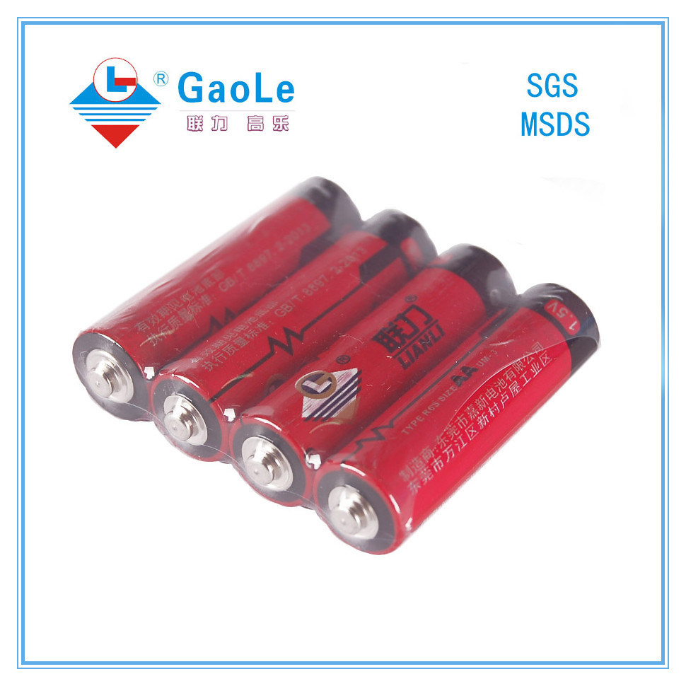 AA 1.5V Remote Control Battery with SGS MSDS (R6)