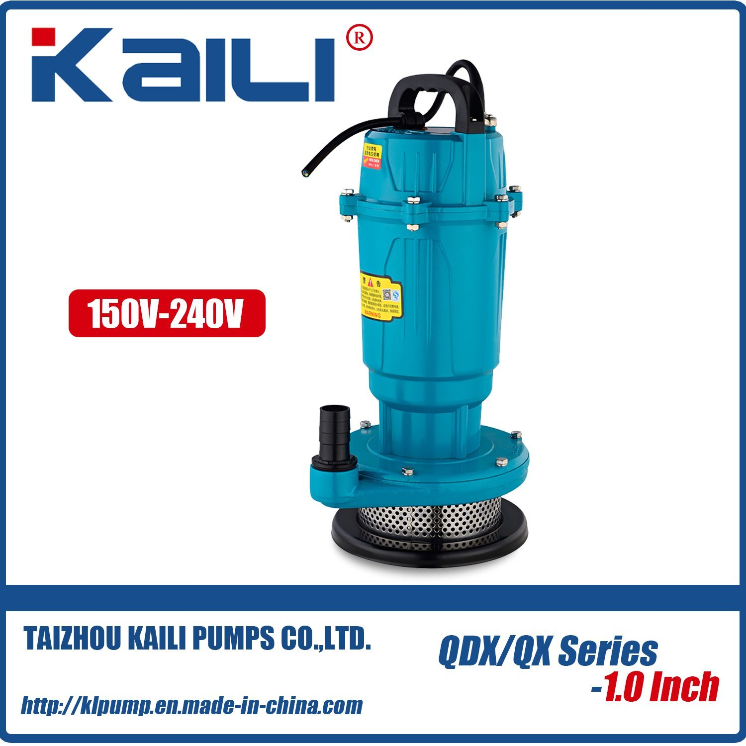 QDX electric Submersible Water Pump (QDX1.5-16-0.37)With High Quality