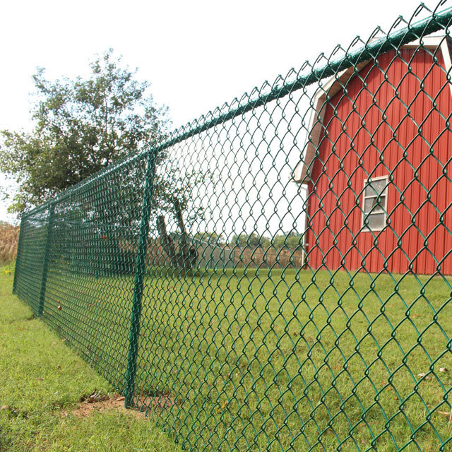 Garden PVC Chain Link Fence Fencing Roll Galvanized Steel Barrier PVC Wires UK