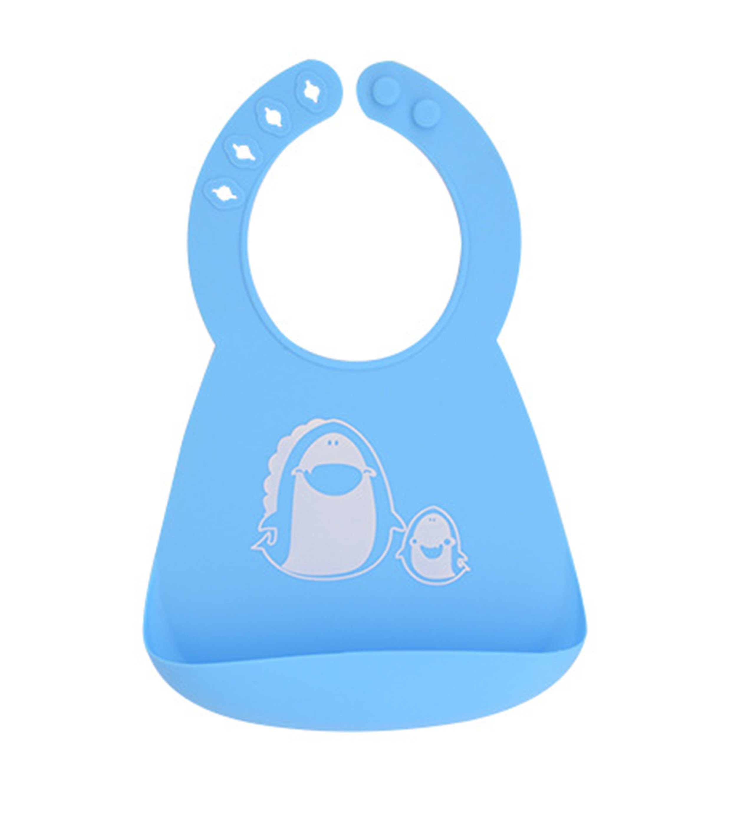 Make My Day Baby BibFood CatcherFood Grade Silicone BibsWhale