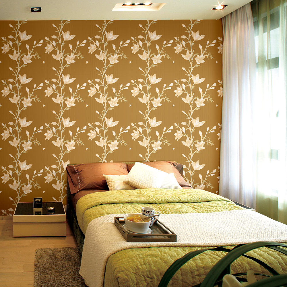 China Floral Leaf Design Modern PVC Wall Paper#Miruotuo - China ...