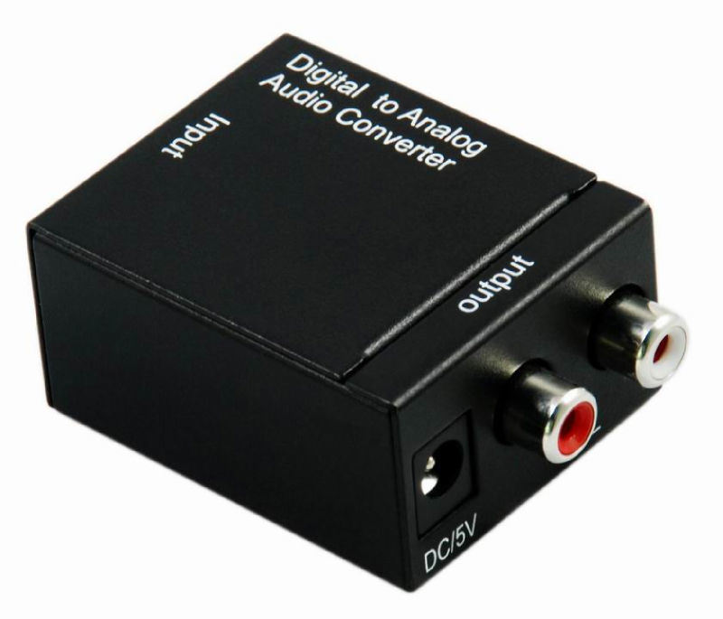 China Digital Optical Coax To Analog Rca Audio Converter