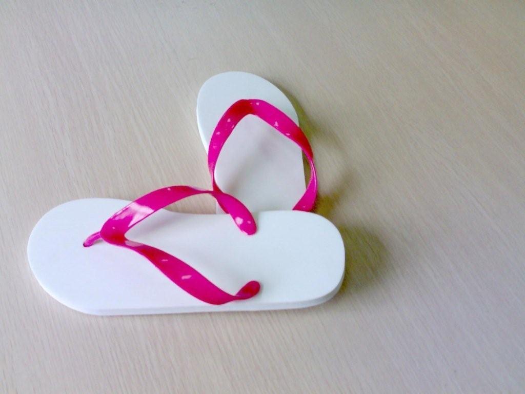 China White Plain Flip Flops - China Flip Flops, Slippers-7161