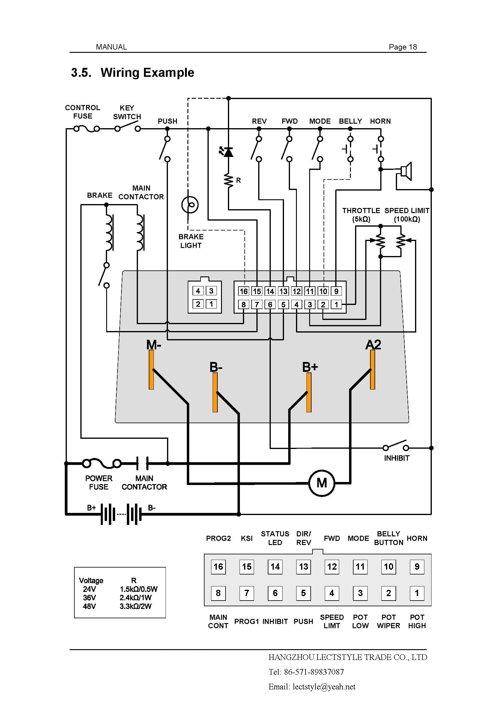 China Brushed Permanent Magnet Motor Speed Controller On Golf Cart Brushless Dc Control Circuit Diagram Transaxle And Electric Trolley