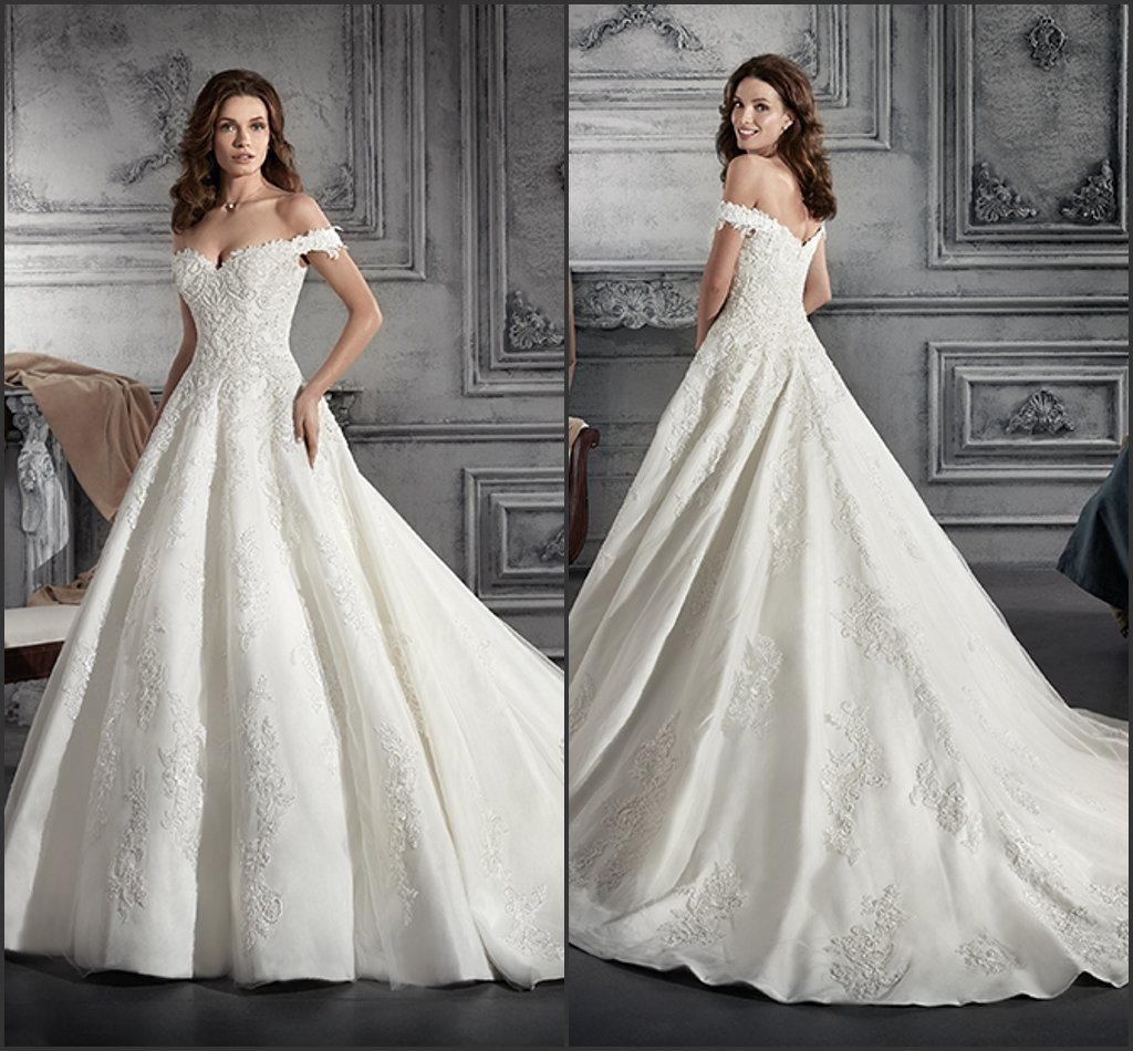 Wedding Gowns From China: China 2019 Bridal Ball Gown Lace Puffy Wedding Dresses