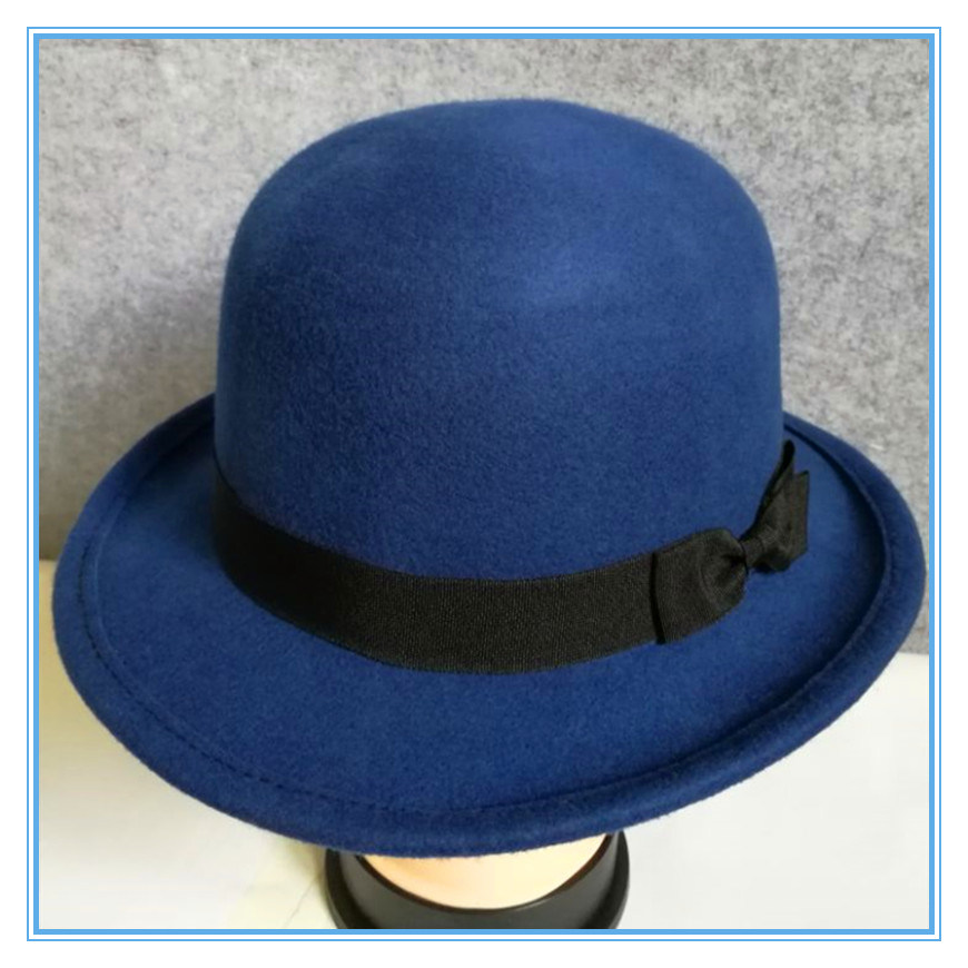 0a50fd77156 China Wholesale Fashion Wool Felt Hat Round Top for Lady and Man ...