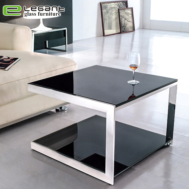 China Modern Living Room Furniture Luxury Stainless Steel Glass ...
