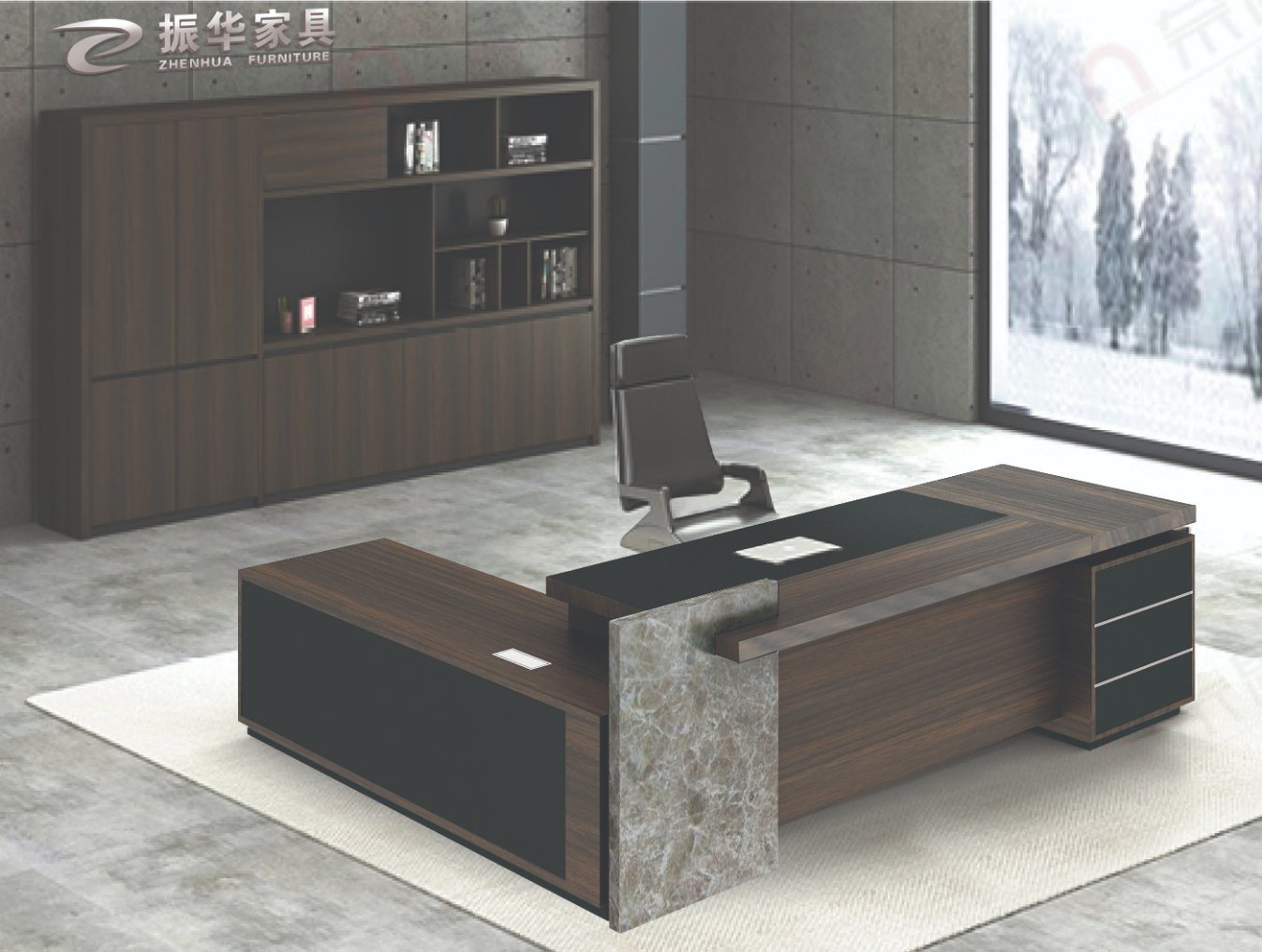 Image of: China High Tech Executive Wood Modern L Shaped Office Desk Table China Office Table Office Furniture