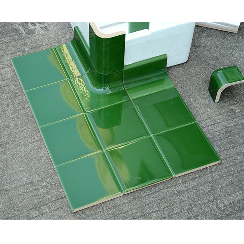 China Dark Green Ceramic Tile Trim