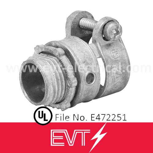 Zinc Squeeze Connector Straight Type for Flexible Conduit/Hose