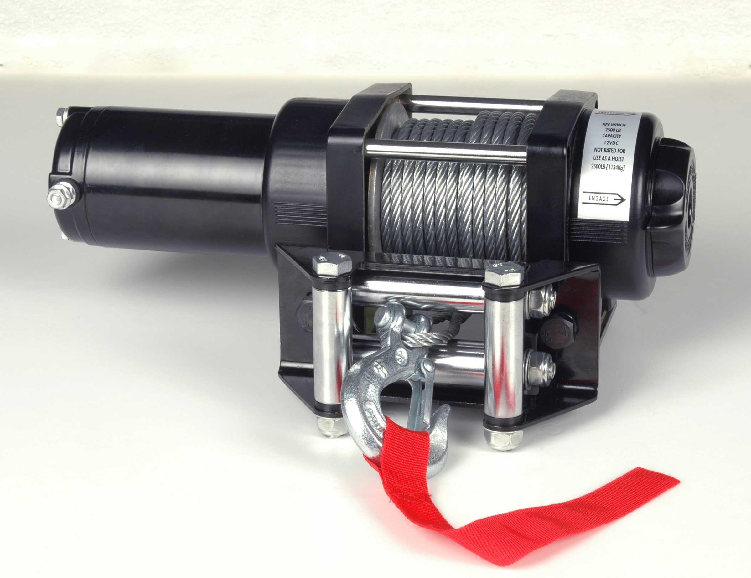 DC 12V Waterproof ATV Electric Winch with 2000lb Pulling Capacity