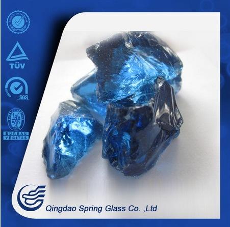 Deep Blue Color Large Gl Stones