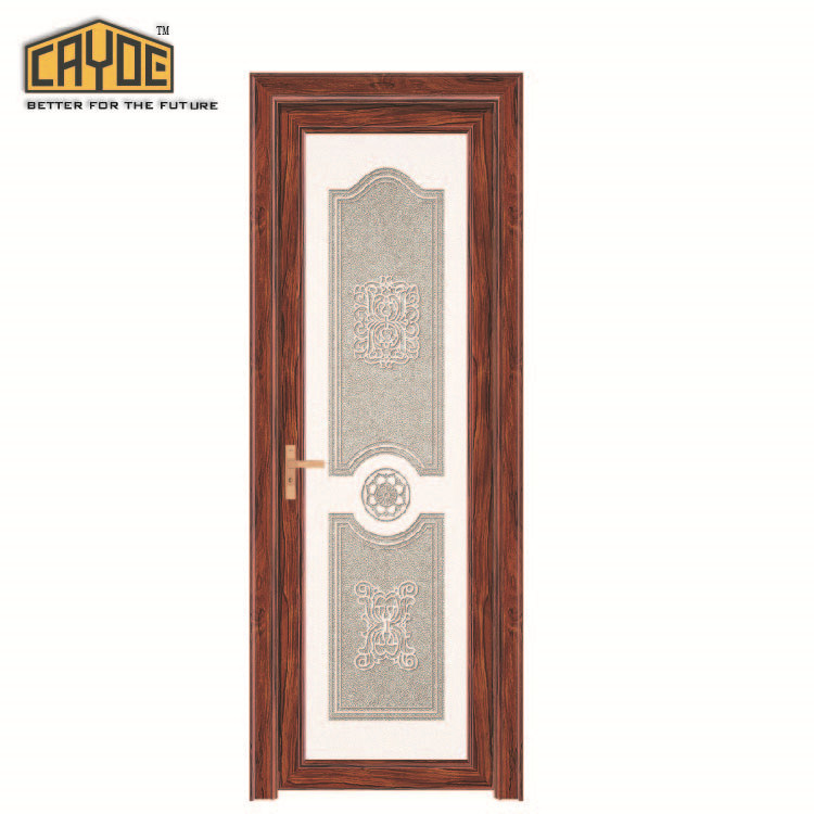 China Cheap Price Aluminum Bathroom Door Modern Swing Style Interior