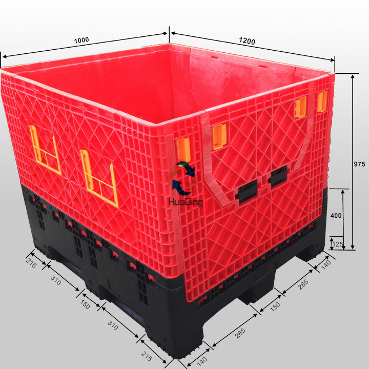 1200X1000X975 Collapsible Plastic Container Box for Storage pictures & photos