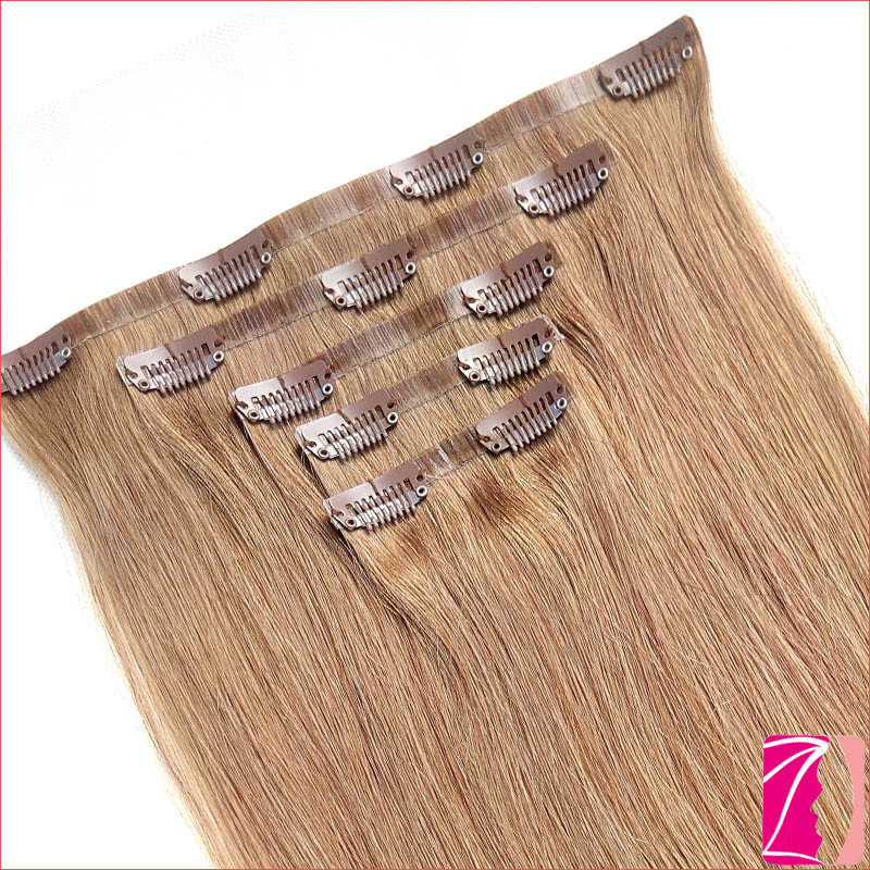 China Nice Quality Seamless Clip In Hair Extension China Seamless